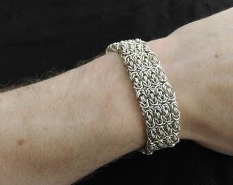 Bracelet sterling silver byzantine chain medieval