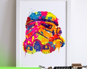 Star Wars Storm Trooper Illustrated Art Print