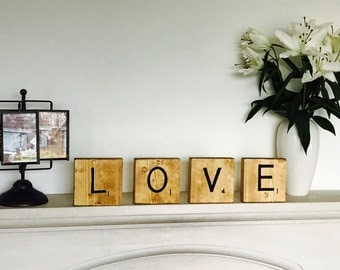 Set of 5 personalised scrabble style letters