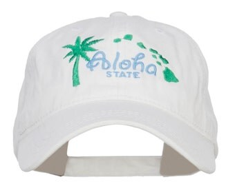 Hawaii Aloha State Embroidered Cap