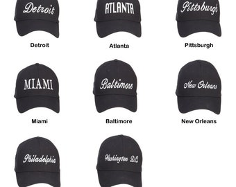 USA City Embroidered Cotton Cap