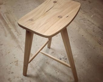 Bar stool, 3 legged, Frid and Lynn inspired.