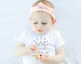 Funny Baby Onesie, White Onesie,  Princesses  Black  White, Baby Clothes, Baby Shower Gift, White  Cute Baby Onesie, Hanmade