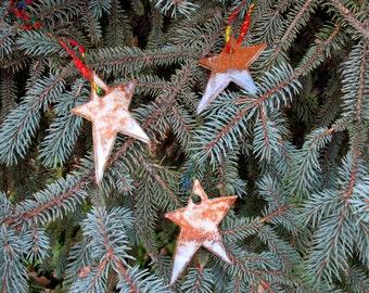Folk Art Star Ornaments