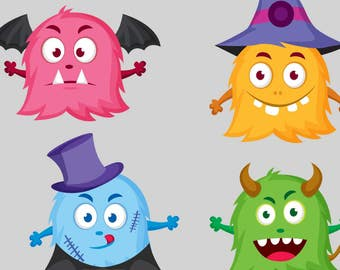 halloween monsters svg, monsters svg, instant download, digital, cutting file, clipart, clip art