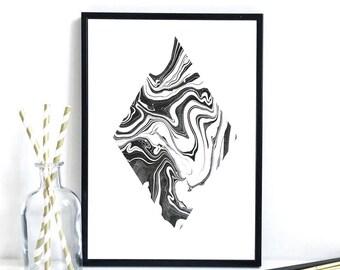 Marbled Diamond Print