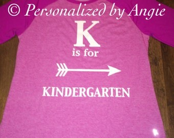 K is for Kindergarten Shirt
