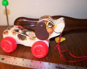 Lil Snoopy Fisher Price Toys Wooden Pull Toy