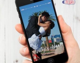 Wedding Snapchat Filter, Wedding Snapchat, Elegant Handwriting, Digital File, Social Media Tag, Snapchat, Digital Detail, Cell Phone, Snap