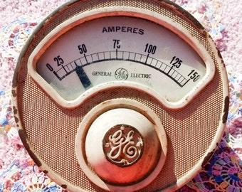 Antique GE Ammeter Model R-6 ca. 1925 150 ampere