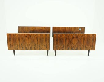 308 126 danish mid century modern rosewood euro queen pair twin bed frame