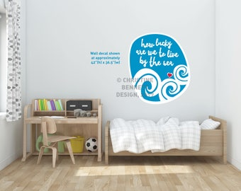 By The Sea - wall decal (large)
