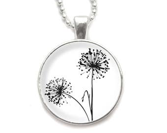 Dandelions necklace