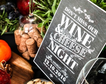 Wine & Cheese Party | Holiday Printables