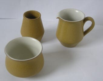 Denby Ode Stoneware Creamer/Milk Jug, Sugar Bowl and Toothpick Pot?