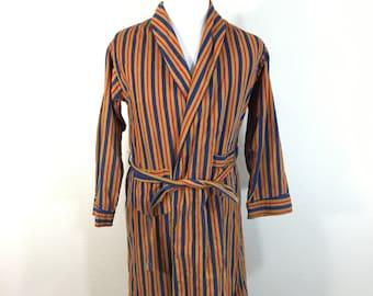 60's vintage 100% cotton striped corduroy robe size 16