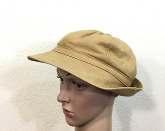 70's canvas bucket hat quilt lined size 7 1/8