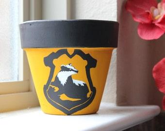 Hufflepuff Themed Harry Potter Flower Pot