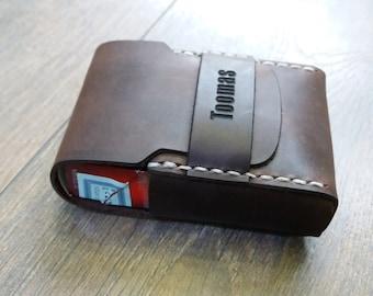 Cigarette holder case, leather cigarette holder, engraved cigarette case, personalized cigarette case, gift for him, Valentine gift