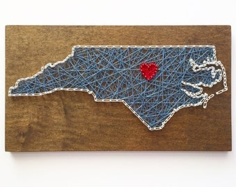 Custom North Carolina String Art - Home - North Carolina Art