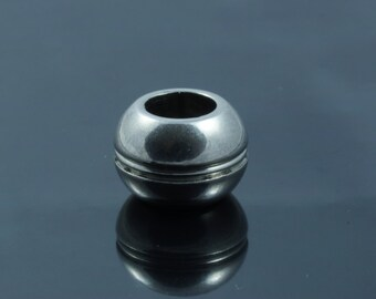 Stainless Steel Rondelle Beads, Large Hole Beads. 12x8mm. Hole 6mm