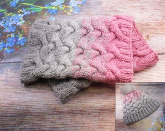 Knit Cowl wool knit scarf knit snood Circle Scarf Cable Knit Infinity Scarf knit scarf Cowl Grey Cowl Pink Winter Cowl Neck Warmer