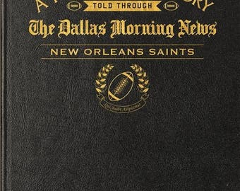 Dallas Morning News New Orleans Saints Football Book - Leather
