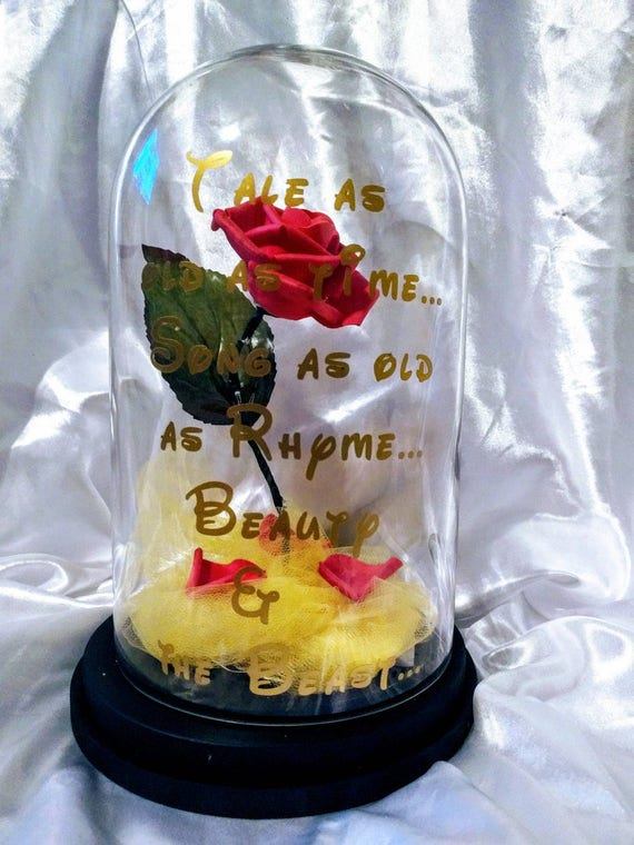 Disneys beauty the beast inspired enchanted rose centerpiece