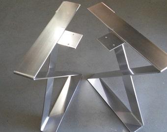 Furniture Legs Diy x shape aluminum table legs desk legs ormetallodesign on etsy