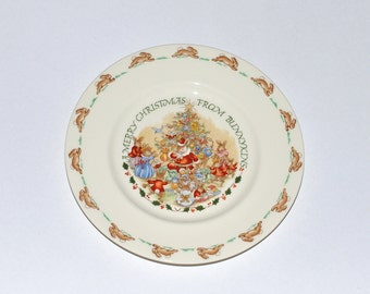 """Royal Doulton """"Merry Christmas from Bunnykins"""" Plate"""