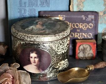Renaissance Women Vintage Tin/Marie Antoinette Tin/Versailles Women Tin/Beautiful Women of the World Vintage Tin/19th Century Women Tin