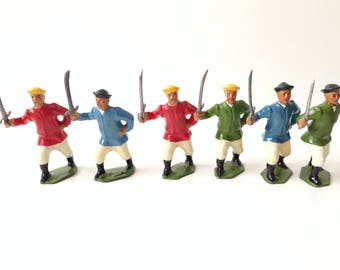 Vintage Britains Toy Soldiers # 241 Chinese Infantry