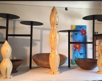 Sculpture - Spalted hornbeam wood art sculptures