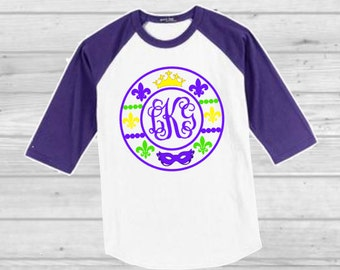 Louisiana Monogram Shirt Louisiana Raglan Personalized Louisiana Shirt  Mommy and Me New Orleans Shirt