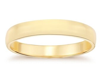 6.1mm 14K Yellow Gold Men's Wedding Band