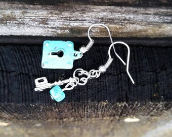 Lock & Key Earrings - 3 Styles