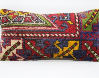 12x24 Decorative Rug Pillow Sofa Pillow Ethnic Pillow Cushion Cover 12x24 Handwoven Carpet Pillow Bohemian Rug Pillow Sofa Pillow SP3060-732