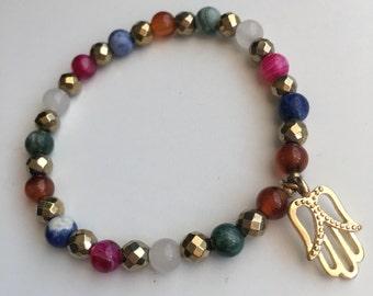 Multicolor fatima bracelet