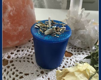 Meditation Votive Spell Candle