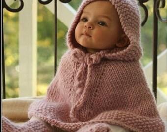 Baby kids poncho with hood