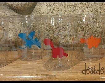 24 Assorted dinosaur vinyl decals dinosaur party Birthday party decoration dinosaur birthday party vinyl cup sticker party cup stickers dino