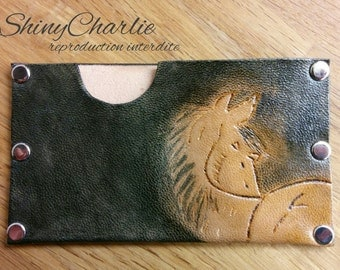 Protects card credit or debit in real leather