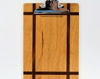Prarie style oak clipboard