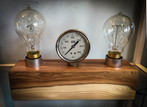 Block and Gauge Desk Lamp