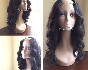 U part wig, curly wig, brazilian bodywave wig, brazilian curly wig, Full wig