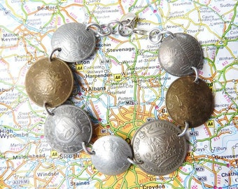 Austria coin bracelet - curved or flat coins - made of coins from Austria - wanderlust - travelgift