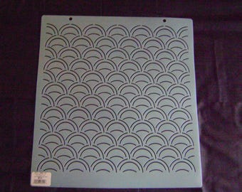 Sashiko Japanese Embroidery Stencil 12 in. Sashiko Asian Ocean Waves 2 in. by 1 in.  Motif Block/Quilting