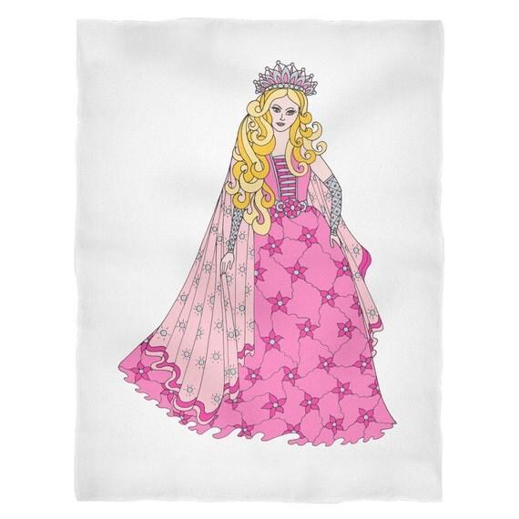 Princess Amber Blanket Princess Blanket Princess Gift for Girls