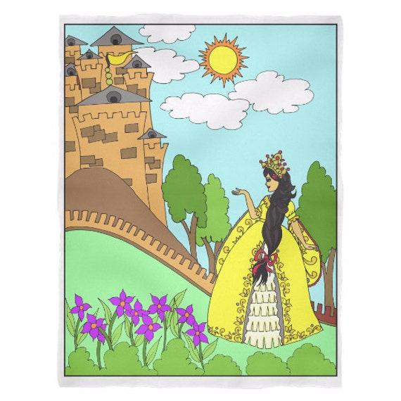 Princess Sofia's Castle Blanket Princess Sofia Latina Princess Hespanic Princess Best Gift Ideas