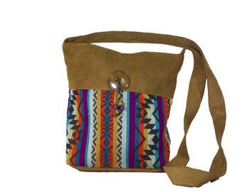 Ethnic bag, Brown ethnic bag, Crossbody bag, Crossbody ethnic bag, Boho bag, Brown bag
